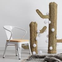 Tolix Kids Armchair - White with Natural Wood Seat